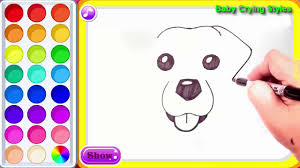 how to draw a cute dog with banana dance baby crying styles