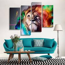 oil paintings canvas cheap abstract lion colorful animals wall art oil paintings canvas cheap abstract lion colorful animals wall art home decor pictures wall pictures for