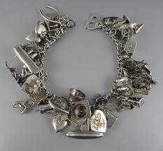 bracelet charm silver images 809 best jewels vintage charm bracelets images my jpg