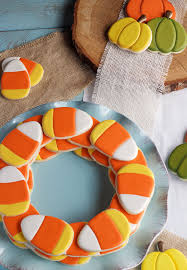 simple candy corn cookies candy corn sugar cookies and cookie