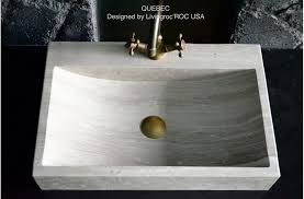 Undermount Bathroom Sink With Faucet Holes by Brown Marble Bathroom Stone Sink Faucet Hole Quebec