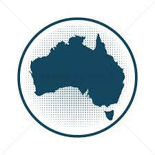 Australian Map Australia Map Badge Vector Image 1949462 Stockunlimited