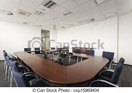 modern office conference table huge round conference table in modern office stock photography