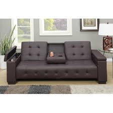Folding Futon Bed Amb Furniture Silia Collection Espresso Faux Leather Folding Futon