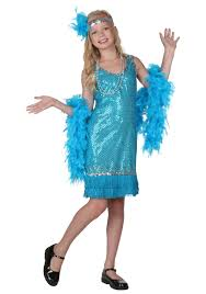 where to buy kids halloween costumes child turquoise sequin and fringe flapper costume