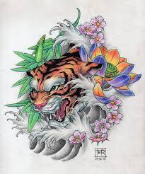 tiger tattoo design tattoo design i did pinterest tiger