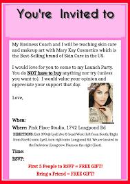 mary kay party invites free printable invitation design