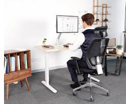 quick and quiet adjustment from sitting to standing ample knee clearance for usder comfort no low cross bars programmable digital control with three