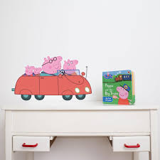 peppa and friends car wall sticker kiddicare com car wall sticker hover to zoom