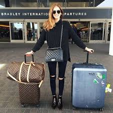 Airport bag chanel classy fashion glasses louis vuitton
