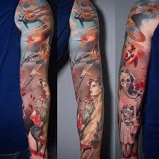 ww2 full sleeve with dogfight best tattoo ideas u0026 designs neo