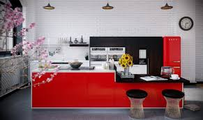modern kitchen red ideas gloss red kitchen pictures cream gloss kitchen with red