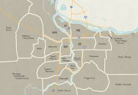 Beaverton Oregon Map by Oregon U0026 Sw Washington Map Dining Out In The Northwest Dining