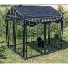 wire cage l shade lucky dog 52 h x 4 w x 4 l pet resort kennel w cover yard