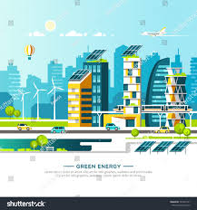 eco site green energy eco friendly city urban stock vector 704547331
