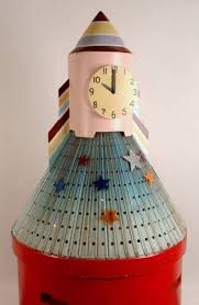 rocket clock from play school national museum of australia