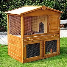 Pet Hutch Wooden Rabbit Pet Hutch 100cm X 55cm X 100xm Mhstar