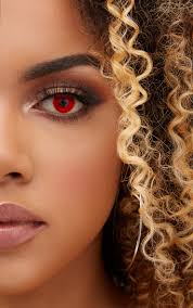 halloween red devil daily contact lenses beauty prettylittlething