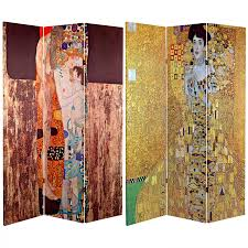 6 ft tall works of klimt room divider bloch bauer three ages of