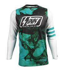 blank motocross jersey premium fit custom sublimated jersey smokeshow white rival ink