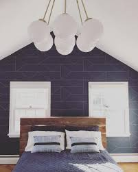 Blue Accent Wall Bedroom by Ferm Living Lines Wallpaper Http Www Fermliving Com Webshop