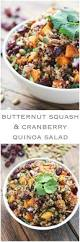 cold salads for thanksgiving butternut squash and cranberry quinoa salad little broken
