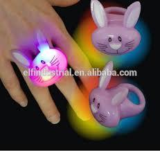 led light up rings easter toys light up rubber blinking flashing led finger ring