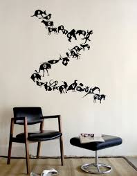 Wall Decals Patterns Color The by Black Alphabet Wall Decals Alphabet Animals A Z U2013 Blik
