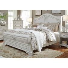 White Sleigh Bed Magnolia Home Antique White Sleigh Bed Free Shipping Today