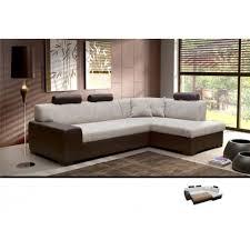canapé d angle avec appui tête meublesline canapé d angle convertible 4 places terra beige marron