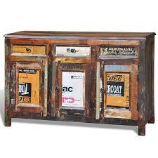 Esszimmer Komplett Antik Vidaxl Antik Teak Massivholz Kommode Sideboard Tv Hoch Schrank