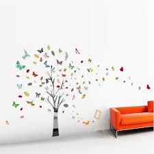 stickers geant chambre fille autocollant sticker mural géant arbre papillon photos déco chambre