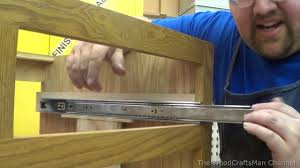 Kitchen Cabinet Drawer Construction by Building Custom Oak Cabinets Episode 11 Installing The Drawers