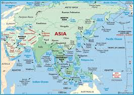 asia map map of all of asia major tourist attractions maps