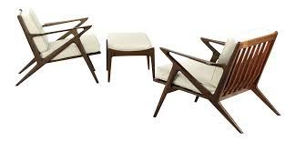 Chair And Ottoman Sets Poul Jensen For Selig Danish Modern