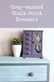Update A Dresser Grey Washed Chalk Paint Dresser Makeover The Inspired Hive