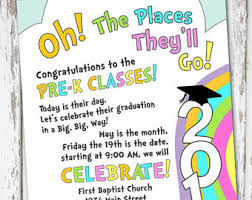 kindergarten graduation invitations preschool graduation etsy