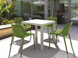 Recycled Plastic Outdoor Furniture Patio 10 Plastic Patio Furniture With Small Green Round Table