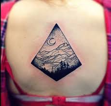 moon and black mountain tattoo tattoomagz