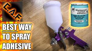Car Upholstery Adhesive How To Spray Adhesive Caraudiofabrication Youtube