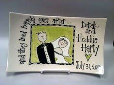 personalized ceramic wedding plates personalised painted pottery by craftymonkeycrafts on etsy