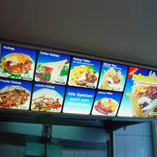 Fast Light Online Cheap Fast Food Slim Light Box Restaurant Menu Board
