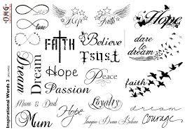 temporary omg inspirational words 3 omg temporary tattoos