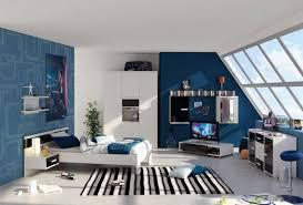 gestaltung jugendzimmer schlafzimmer dachsräge ideen für jungen blau wand gestaltung