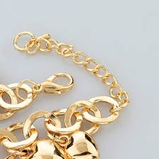 gold hearts charm bracelet images Stars and hearts charm bracelet pandoras box inc jpg