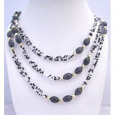 long gold beads necklace images Black white lucite beads long necklace gold beads spacer long necklace jpg