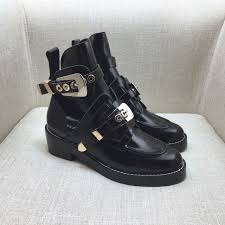 classic biker boots sale ceinture cut out leather ankle boots signifying cut outs