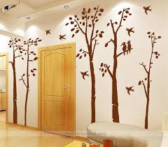 28 home decor wall stickers 72 quot tall large tree wall home decor wall stickers birds in the birch forest wall sticker home decorating
