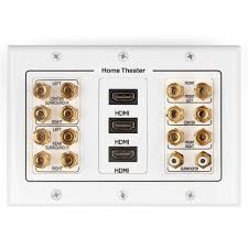 rca home theater system 7 1 7 2 home theater speaker wall plate 2 rca jacks 3 hdmi