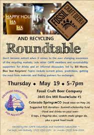 Round Table Prices Colorado Association For Recycling Recycling News